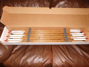One dozen handmade bamboo arrows
