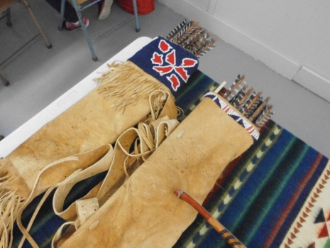 Woodland Quiver next to Plains Lakota Quiver