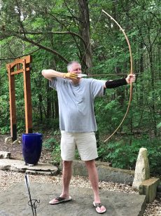Miller longbow and bamboo arrows